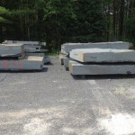 Blocks sawn from the quarry