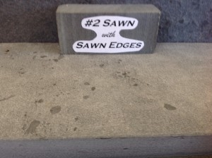 Sawn with sawn edges